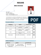 resume readymade