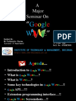 Seminar on GOOGLE WAVE
