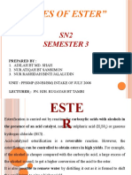 USES OF ESTER