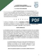 Convocatoria Medico General 2020-2 Pubii 28julio2020