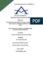 EXCEPCIÓN DE NATURALEZA DE ACCIÓN Y EL DERECHO DEL PROCESADO EN EL DISTRITO JUDICIAL DE LIMA,