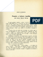 Poesie e lettere inedite del dottor Bortol Sicher - Enrico Quaresima