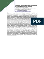 Análisis del impacto financiero y ambiental de una mejora en la eficiencia