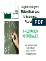 1. Espacios Vectoriales - Diapositivas