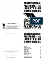Organisational Platform of the Libertarian Communists