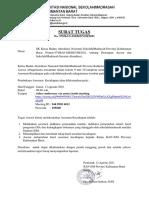 Surat Tugas Asesmen Kecukupan BAN-SM Prov.kalbAR Tahun 2021. (1)
