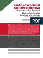 Desafio Educacional Brasileiro e Ofensiva Ultraconservadora Do Capital
