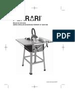 Manual de instruções SERRA CIRCULAR DE BANCADA FERRARI 10_ SCM-1500