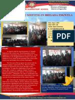 Minutes of the meeting of Brigada Eskwela