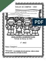 Avaliação Diagnóstica Inicial - 2021 - 1º Ano