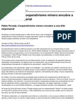 Cooperativismo minero encubre a una élite empresarial - 2012-10-08