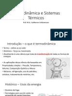 Termodinâmica e Sistemas Térmicos. Prof. M.Sc. Guilherme Schünemann