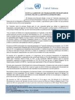 ONU reconoce la labor de los trabajadores humanitarios en Venezuela (Documento)