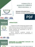 Apresentação SECRETÁRIOS - PROSERVIR