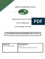 Rapport Stage Bitti n'Takpé Armel