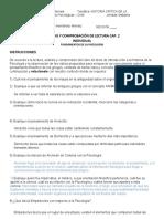 ANÁLISIS Y COMPROBACIÓN DE LECTURA CAP. 2  Virtual-HISTORIA CRITICA I