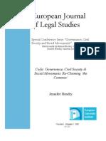 Coda - Governance, Civil Society & Social Movements. Reclaiming the Common