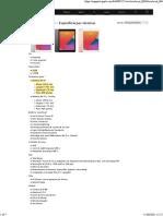 iPad (8ª Geração) - Especificações Técnicas