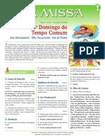 A Missa – Ano a – Nº 45 – 18º Domingo Do Tempo Comum – 02.08.20
