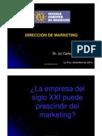 Dirección de Marketing - Carlos Camacho (EEN, 2010)