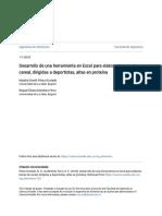 Desarrollo de Una Herramienta en Excel Para Elaborar Barras de Cereal