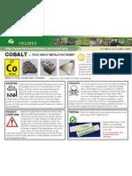 Cobalt Toxic Heavy Metals Fact Sheet