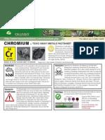 Chromium Toxic Heavy Metals Fact Sheet