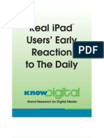 Know Digital Report - Real iPad Users' Early Reaction to the Daily - March 2011