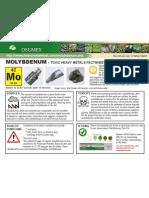 Molybdenum Toxic Heavy Metals Fact Sheet