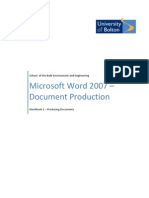 Word 2007 - Document Production