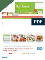 Batch Cooking (Recetas Para Cocinar Un Día y Comer Varios) _ PequeRecetas