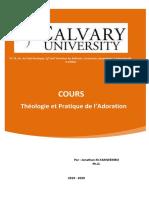 THEOLOGIE PRATIQUE DE L'ADORATION