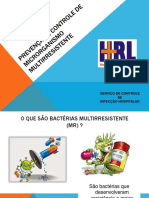 Aula Prenvenção e controle de microrganismos multirresistentes