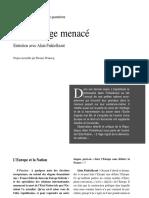 Alain Finkielkraut_Un Heritage Menace