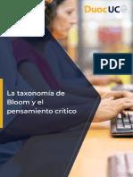la taxonomia de Bloom y el pensamiento critico (1)