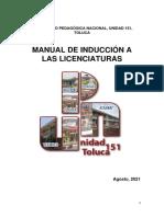 Manual Curso de Inducción 2021 para ingresar a la UPN 151 Toluca