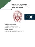 EXAMEN PARCIAL  COMERCIALIZACION  2021-I