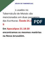 (2) Relação de Jesus Com o Tabernaculo
