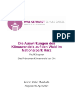 (PDF) Die Auswirkungen Des Klimawandels Auf Den Wald Im Nationalpark Harz