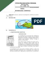 METODOLOGIA  CIENTÍFICA  3RO SEC.FISICA