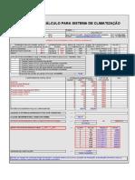 Planilha de Cálculo - Sistema de Climatização Carthom's