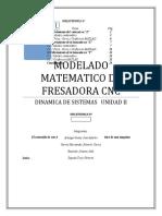 MODELADO MATEMATICO DE FRESADORA CNC