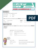 Ejercicios con exp algebraicas