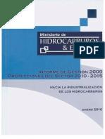 Informe de Gestión 2009 / Proyecciones del sector 2010 - 2015