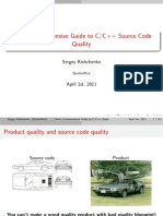(Non) Comprehensive Guide to C/C++ Source Code Quality
