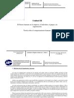 Comportamiento Organizacional - Unidad III