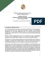 EAA 344A Topicos de RRHH, programa, Marzo, 2009 (E. Barros)