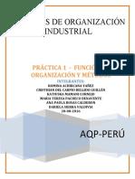 PRÁCTICA 1  -  FUNCIÓN DE ORGANIZACIÓN Y MÉTODOS
