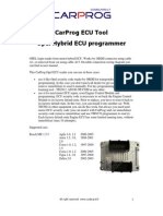 CARPROG Opel ECU programmer user manual