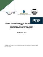 Global Warming Impacts on the Achievement of the Millennium Development Goals